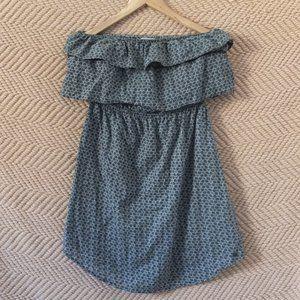 Roxy Strapless Ruffle Mini Dress Size Large